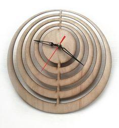 Laser cut Wall Clock Laser Cutting Wood Clock Modern by Woodinky