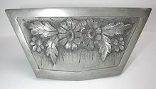 French Art Nouveau signed 'daisies' pewter box