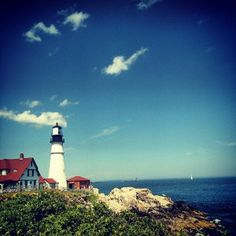 Portland Head Light, Portland Maine - www.kampkohut.com Oh The Places You'll Go, Places Ive Been, Head Light, Portland Maine, New Hampshire, Lighthouses, Destinations, To Go, Spaces