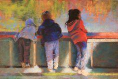 Lake Full of Wonder by Barbara Jaenicke Pastel ~ 20 x 30
