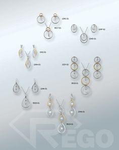Designs by Rego diamond two tone pendants