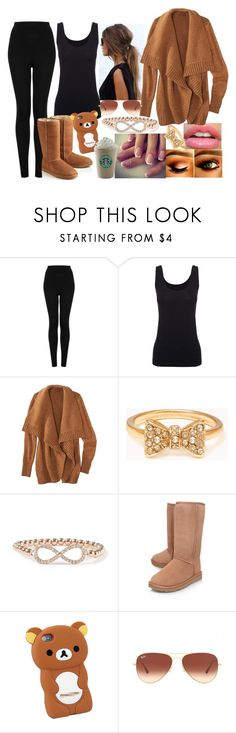 """""""Sans titre #356"""" by assia-mouaqk ❤ liked on Polyvore featuring Topshop, Boody, Forever 21, UGG Australia and Ray-Ban"""
