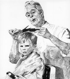 norman rockwell drawings | Norman Rockwell graphite drawing