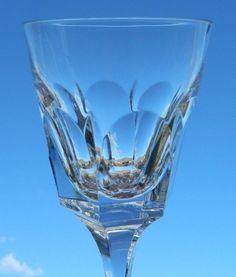 Vintage Set of 6 Atlantic Crystal Obidos Signed Water Goblets Glasses Stemware  #AtlantisCrystal
