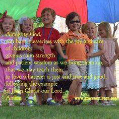 Prayer for the care of children.