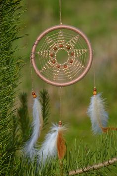 Handmade Dreamcatcher Mandala Shipping worldwide from Estonia  Ø13cm in diameter ( 5.11 inches)  *Used materials: Cotton thread Sandstone