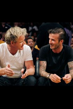 Gordon Ramsay- David Beckham Can I get in the middle of that please??????