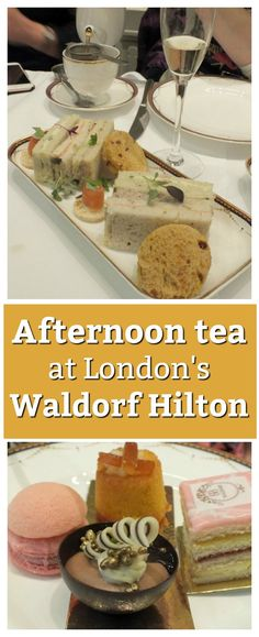 Afternoon tea, anyone? We sampled a dainty selection of deliciously delicate sandwiches and cakes at London's Waldorf Hilton hotel.