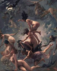 Departure of the Witches, by Luis Ricardo Falero, 1878