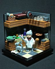 White, In the Kitchen, With the Lead Pipe I'd like to do this in miniature. Legos, Lego Lego, Lego Kitchen, Lego Furniture, Minecraft Furniture, Furniture Ideas, Lego Modular, Lego Room, Cool Lego Creations