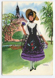 Tolouse-Embroidered-silk-fabrics-France-ethnic-dress-1960s-postcard-gk33