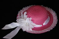 Girls Easter Hat  Tea Party Hat  Girls Sun Hat  by PureReflections, $19.00