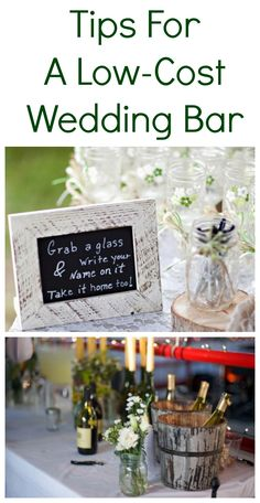 Tips on how to keep the cost low for your wedding bar.