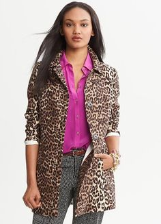 Animal Print Coat | Banana Republic Fall 2013