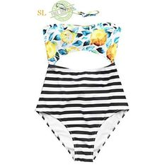 9e1d7bce6ffbe Eleoption Fashion Sexy High Waisted One-Piece Swimsuit Set Cover Ups ...