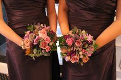 Deep Purple Autumn Bridesmaids Bouquets