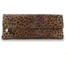 oversized leopard clutch ❤ liked on Polyvore