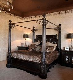 Canopy Beds King Size | BESPOKE Super King Size Four Poster canopy bed Handmade solid mahogany ...