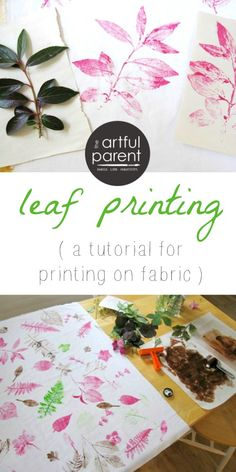 A tutorial for leaf printing on fabric that is easy enough a child can do it! Create your own fabric designs with beautiful leaf prints in any color...