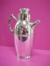 VINTAGE 1942 POOLE Co. Silver Plated COCKTAIL PITCHER SHAKER