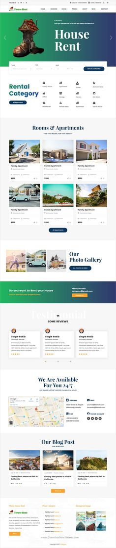 GreenScope u2013 Coming Soon Bootstrap Themes Pinterest Theme - house for rent template