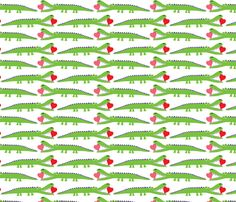 Alligator Love - large fabric by andibird on Spoonflower - custom fabric  For my apron?