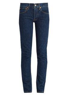 High-rise straight skinny-leg jeans | Re/Done Originals | MATCHESFASHION.COM