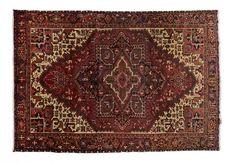 HERIZ / IRAN  Item Number:04-K36448 Width: 7 ft. 8 in. Length: 10 ft. 10 in. Field: ALL OVER PATTERN Field Color: RED Border Color: BLACK www.togarrugs.com (828)-687-1968