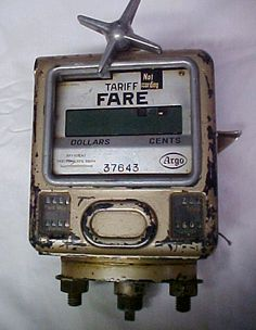 Vintage Argo Corp Taxi Cab Fare Meter Germany 1960s 1970s ?