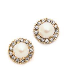 Kate Spade New York Secret Garden Stud Earrings ($48) ❤ liked on Polyvore featuring jewelry, earrings, accessories, kate spade jewelry, earrings jewelry, 14k earrings, 14 karat gold jewelry and gold filled stud earrings