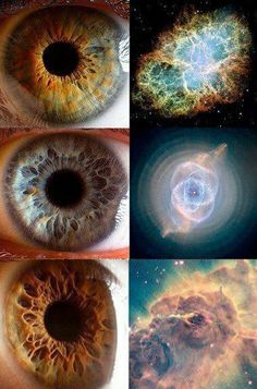 The universe in our eyes.