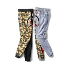 289f094ef041 Bape Shark Head casual sweatpants