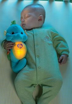 Christmas gift ideas for babies (like this Fisher-Price Ocean Wonders Soothe and Glow Seahorse).