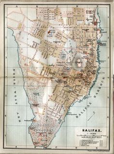 Vintage Halifax Map http://www.mervedinger.com The city has grown a lot throughout the years