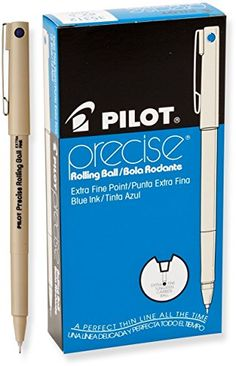 Pilot Precise Rolling Ball Pen, Extra Fine Point, Blue Ink, Dozen Box (35312) Pilot http://www.amazon.com/dp/B0006BC2MW/ref=cm_sw_r_pi_dp_bf5Yvb1XVEHQM