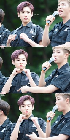 Jungkook ready to fight a bee - BTS Mini Fanmeeting at Inkigayo Part IV [150705] | btsdiary