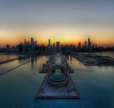A fantastic HDR shot of #Chicago taken by my friend Trey Ratcliff when we were on a helicopter shoot over the city.