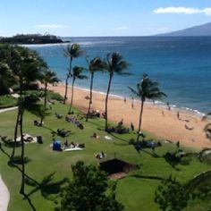 The view (looking toward Black Rock) from Unit 3330 at the Westin Ka'anapali Ocean Resort Villas  #placesinparadisetravel