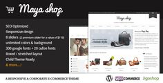 Producto : Themeforest MayaShop v1.8 – A Flexible Responsive e-Commerce Theme  Precio: $ 60 USD Precio Comunidad-Seo: GRATIS WebSite: http://comunidad-seo.com/