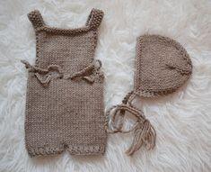Short Rompers Pattern Bonnet Pattern Newborn Size от 3PLittleKnits