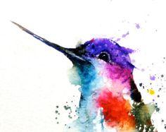 Colibri Print aquarelle par Dean Crouser