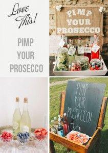 pimp your prosecco bar for weddings