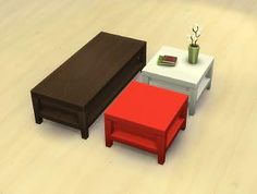 "Mod The Sims - Small ""Tabula Rasa"" Coffee Table + Recolours"