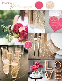 Peonies and Champagne Wedding Inspiration and the New Hey Wedding Lady! | See More! http://heyweddinglady.com/peonies-champagne-wedding-inspiration-new-hey-wedding-lady/