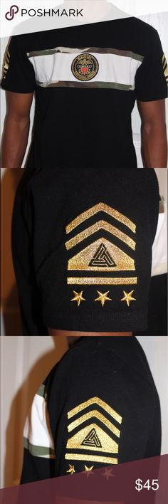 Black pyramid t-shirt (Chris Brown) Very new/ worn once/ in amazing condition/ size large black pyramid Shirts Tees - Short Sleeve