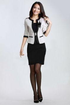traje para dama de oficina - Buscar con Google Sacos 585c0fc722ad