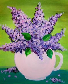 Lilacs in a jug Paint Night