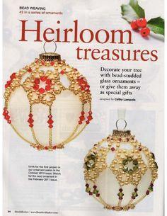 Схемы: Ёлочные шары. Архив Beads and Button 2009-2010 гг