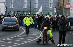 A Right2Water protest march on Wexford's Crescent Quay.