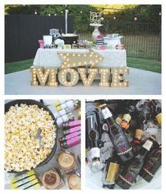 Outdoor Movie Night 30th Birthday Party